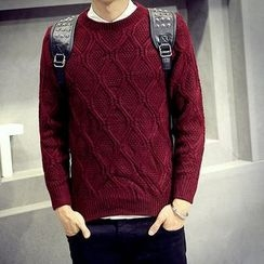 maxhomme - Round-Neck Knit Top