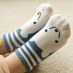 MITU - 四雙裝: 兒童卡通襪薄款短襪