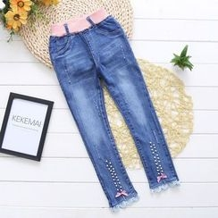 Youtale - Kids Lace Trim Jeans