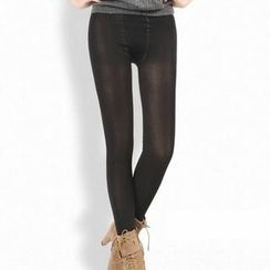 Ando Store - Sheer Fleece-Lined Leggings