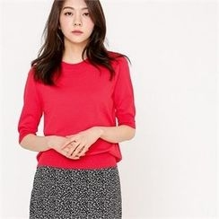 MAGJAY - Elbow-Sleeve Knit Top