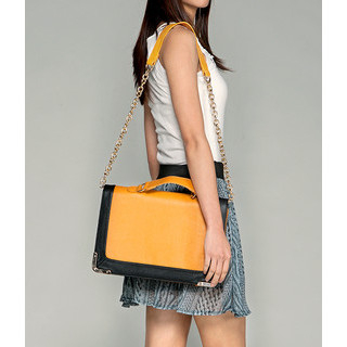 yeswalker - Flat Faux Leather Shoulder Bag