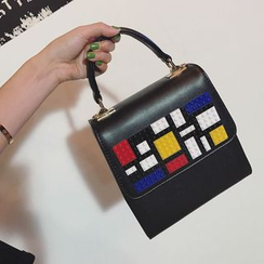 Pandabada - Studded Flap Satchel