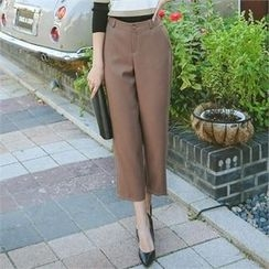 ode' - Flat-Front Cropped Pants