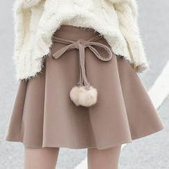 Moriville - Furry Ball A-Line Skirt