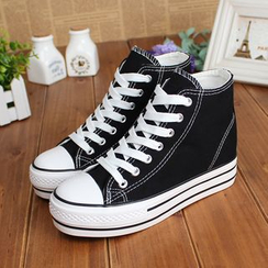 Klesky - High-top Canvas Sneakers