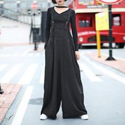 Ultra Modern - 纯色背带裤