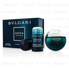 Bvlgari - Aqva Pour Homme Coffret: Eau De Toilette Spray 50ml/1.7oz + Deodorant Stick 75ml/2.7oz