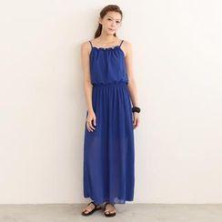 SO Central - Strappy Chiffon Maxi Dress