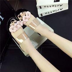 Wello - 花朵一字涼鞋