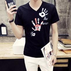 Hawoo - Short-Sleeve V-Neck T-Shirt