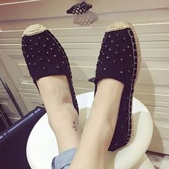 Crystella - Studded Flats