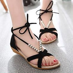Honey Honey - Lace Up Sandals