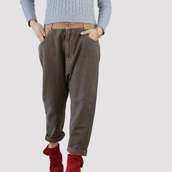 YORU - 條紋哈倫褲