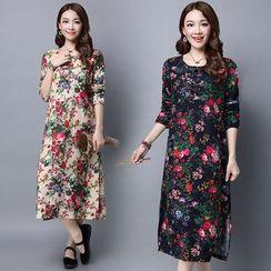 GLIT - Floral Print Long Sleeve Dress