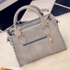 Diamante - Faux Pearl Tasseled Handbag