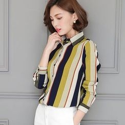 lilygirl - Striped Chiffon Shirt
