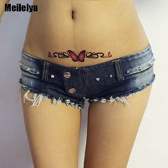 MATITA - Distressed Denim Hot Pants