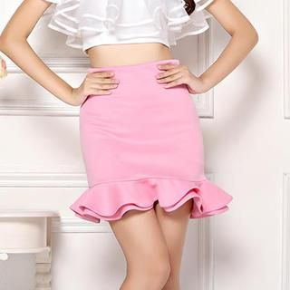 Ando Store - Ruffled Pencil Skirt