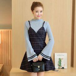 Soraka - Mock Two-Piece Dress