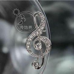 Trend Cool - Music Note Rhinestone Pin