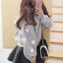 Fashion Street - Heart Print Pullover