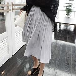 LIPHOP - 束腰打褶裙裤