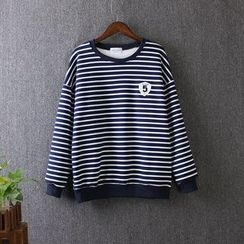 Blue Rose - Striped Sweatshirt