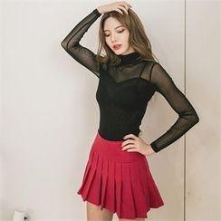 clubber - Pleated Mini Skirt