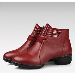 恋上舞 - 真皮爵士舞蹈踝靴