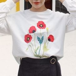 Bloombloom - Floral Embroidered Pullover