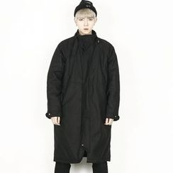 Remember Click - Wool-Blend Zip-Up Long Coat
