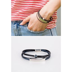 REDOPIN - Faux-Leather Layered Bracelet