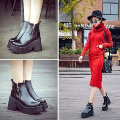 Mancienne - Chunky-Heel Platform Ankle Boots