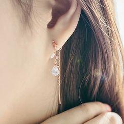 Kulala - Rhinestone Drop Earrings