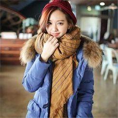 Styleberry - 流蘇條紋圍巾