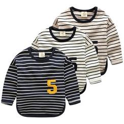 Seashells Kids - Kids Stripe Number Long-Sleeve T-shirt