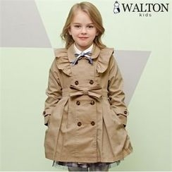 WALTON kids - Boys Double-Breasted Frill-Trim Trench Coat