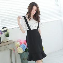 Tokyo Fashion - Plain Ruffle-Hem Jumper Skirt