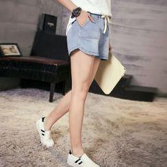 Happy Girl - Denim Shorts