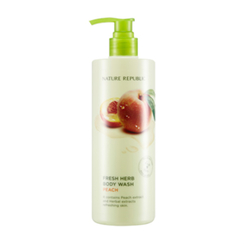 Nature Republic - Fresh Herb Body Wash Peach 400ml