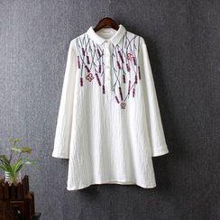 藍玫瑰衣坊 - 刺繡襯衫
