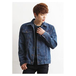HOTBOOM - Collared Denim Jacket
