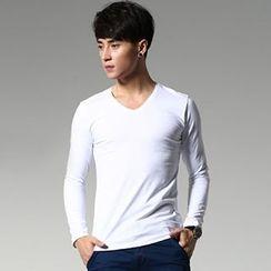 WOOG - Long-Sleeve V-Neck T-Shirt