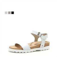 MODELSIS - Genuine Leather Buckled Sandals