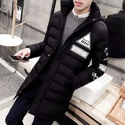 Bay Go Mall - Applique Hooded Padded Coat