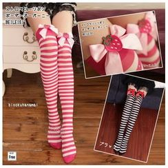 Cosgirl - Strawberry Striped Over-the-Knee Socks