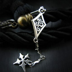 Sterlingworth - Tinted Sterling Silver Ninja Star Single Earring