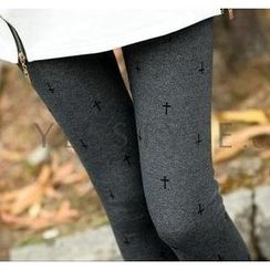 SO Central - Cross Print Leggings