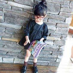 CUBS - Kids Frill Trim Long-Sleeve Dress
